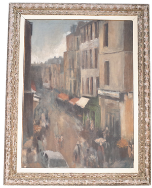 Oil on Canvas of Street Scene