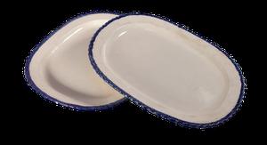 Pair of Tin Glazed Platters