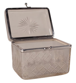 Silver Plated and Cut Glass Box
