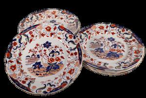 Set of Twelve Copeland Dinner Plates