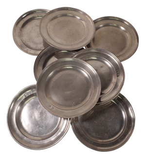 Reeded Pewter Plates