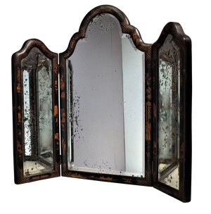 Chinoiserie Tri-fold Dressing Table Mirror