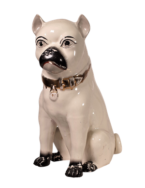 Large Staffordshire Pottery Pug
