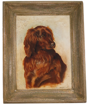Oil on Canvas Portrait of a Red Setter