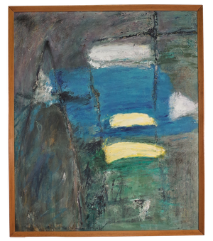 Oil on Board Abstract Landscape