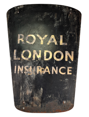 Royal London Painted Iron Insurance Sign