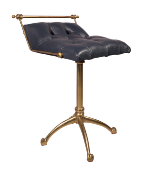 Brass Cello Stool Upholstered in Leather