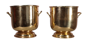 Pair of Brass Wine Coolers