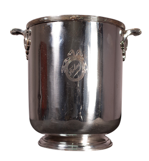 Plated Champagne Bucket with Engraved Crest 'Frolics'