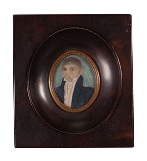 Framed Miniature of Young Male