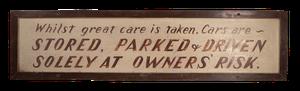 Valet Parking Sign