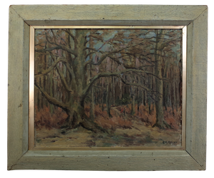 Oil on Board Titled A Path in the Woods