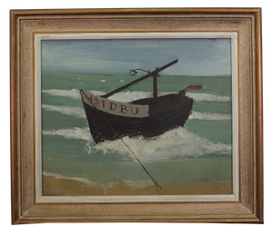 Naive Oil on Board of Fishing Boat