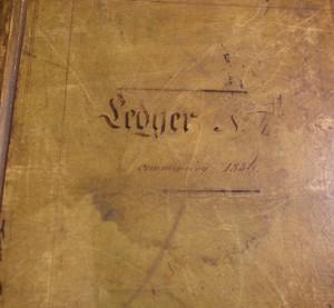 Set of Eight Velum and Leather Ledgers