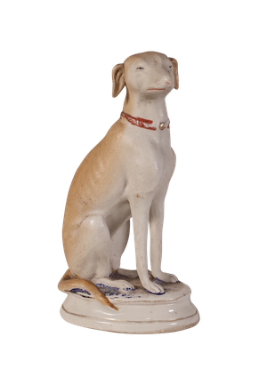 Bisque Model of a Hunting Dog