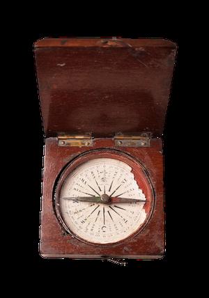 Pocket Compass in Mahogany Case