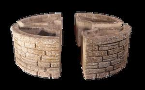 Set of Four Composite Circular Segment Planters by Sandford Stone