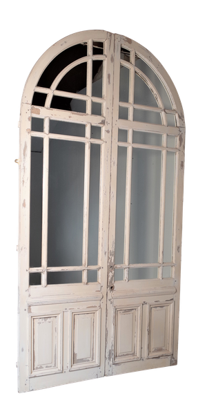 Pair of Orangery Mirrored Doors with Old Paint