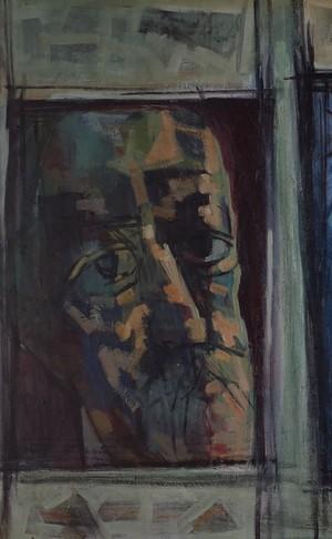 Oil on Board Triptych of Three Men by Douglas Pittuck