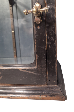 Ebonised Display Cabinet with Adjustable Glass Shelves