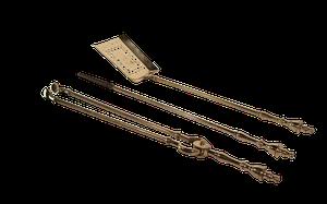 Set of Brass Fire Irons