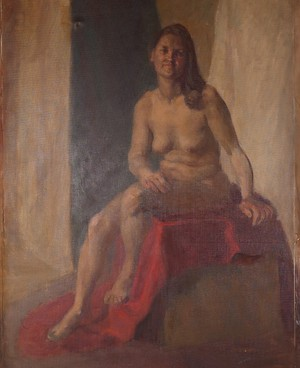 Oil on Canvas Female Nude Life Study by Alys Woodman
