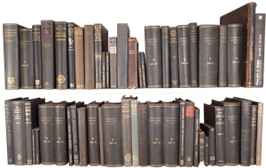 Selection of an Oxford University Academic's Library in Various Shades of Black