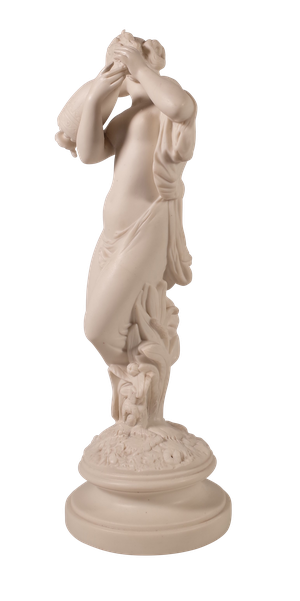 Parian Ware Figure of Woman with Grecian Urn