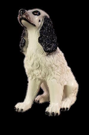 Ceramic Model of a White Spaniel