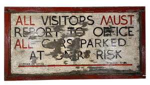 Her Majesty's Prison Service Hand Painted Parking Sign