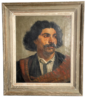 Oil on Canvas Portrait of Male signed F Richards