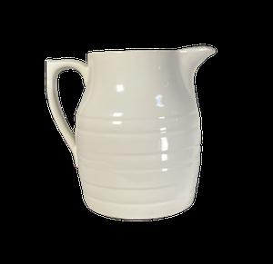 Edwardian Large White Banded Jug by Sadler