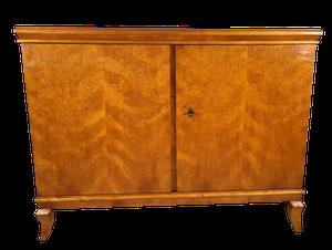 Walnut Veneered Two Doored Sideboard on Polished Beech Cabriole Legs