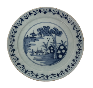 Delft Plate with Chinese Decoration
