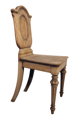 Stripped Oak Hall Chair