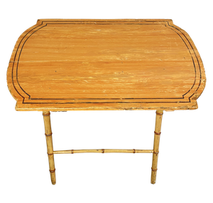 George III Faux Bamboo Folding Coaching Table with Old Paint