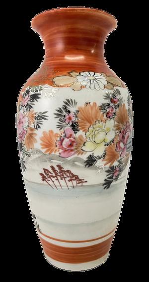 Meiji Period Hand Decorated Kutani Vase
