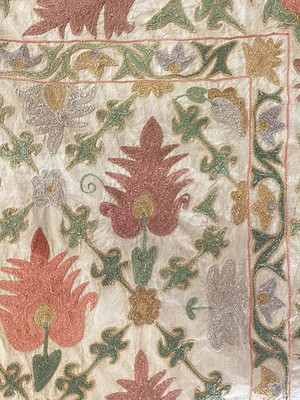 Crewelwork Embroidered Panel