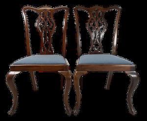 Pair of Mahogany Hepplewhite Style Side Chairs