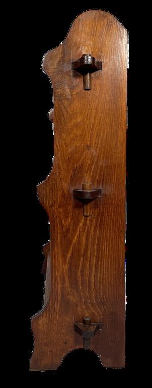 Oak Three Tiered Wall Shelf