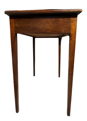 Victorian Walnut and Mahogany Side Table with Single Drawer