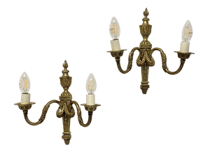 Pair of Classical Detailed Ormolu Wall Lights