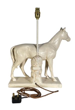 Painted Plaster Horse Table Lamp