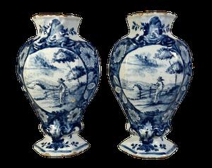 Pair of Delft Vases