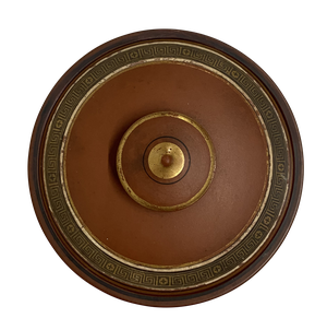 F R Prattware Lidded Jar with Classical Greek Design