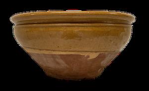 Welsh Part Glazed Terracotta Dairy Bowl
