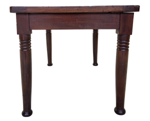 Mahogany Slatted Luggage Stand on Ring Turned Legs