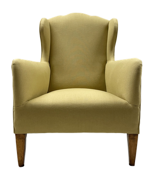 George III Wingback Armchair on Mahogany Square Tapering Legs