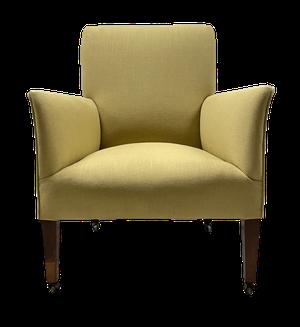 Regency Squareback Armchair on Mahogany Square Tapering Legs