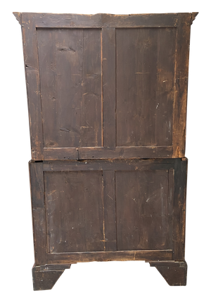 George IV Mahogany Linen Press on Base with Three Long Drawers with Bracket Feet